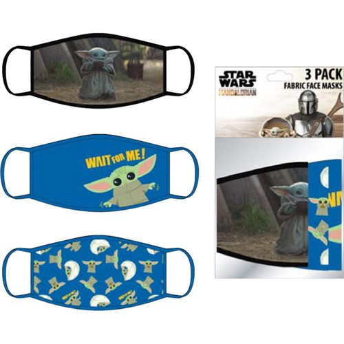 Star Wars: The Mandalorian The Child Child's 3-Pack Face Masks