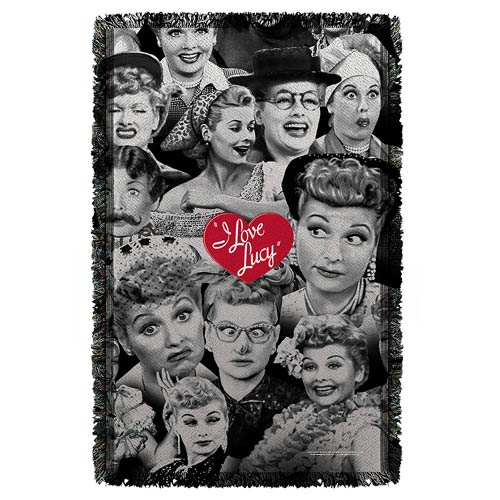 I Love Lucy Faces Woven Tapestry Blanket