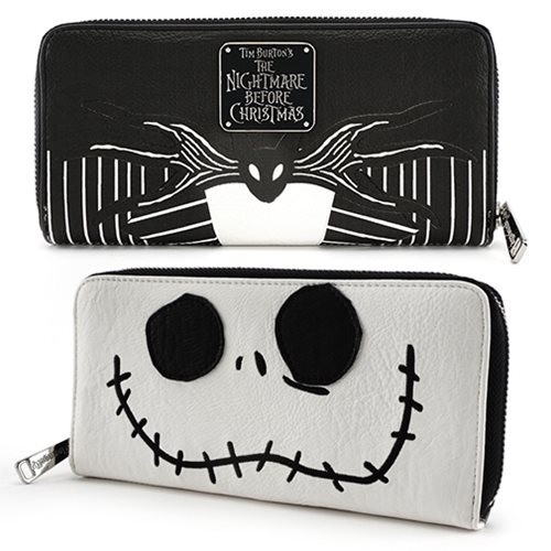 Nightmare Before Christmas Jack Skellington Face Wallet