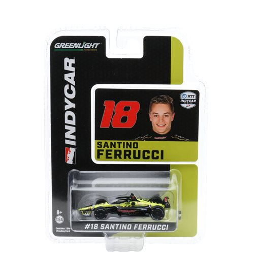 2020 NTT IndyCar Series #18 Santino Ferrucci with Sullivan SealMaster 1:64 Scale Die-Cast Vehicle with Trading Card