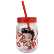 Betty Boop Kiss 18 oz. Mason-Style Jar with Lid