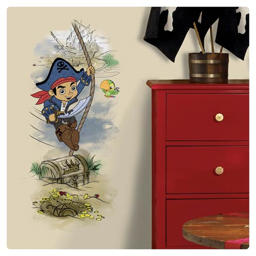 Captain Jake and the Never Land Pirates Treasure Peel and Stick Giant Wall Graphic