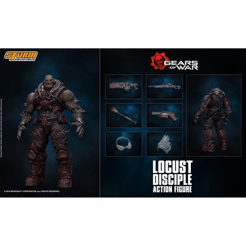 Gears of War Locust Disciple 1:12 Scale Action Figure