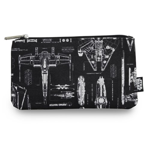 Star Wars  The Force Awakens Ship Blueprint Travel Cosmetic Bag ... 7d51fb7a74