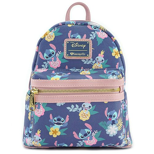 Lilo   Stitch and Scrump Floral Mini Backpack - Entertainment Earth cb1f3a0efd489