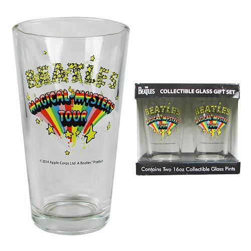 Beatles Sgt. Pepper's and Magical Mystery 16 oz. Pint Glass 2-Pack