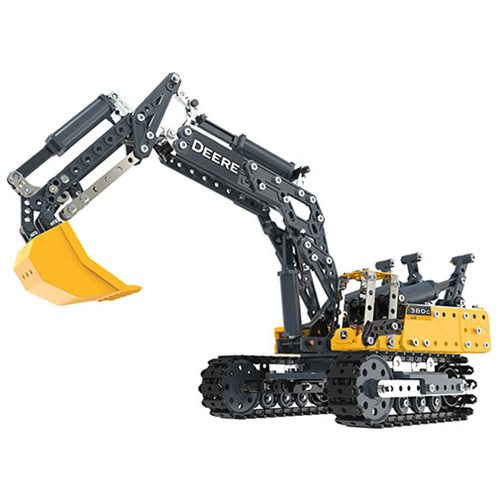 Erector by Meccano John Deere 380G Excavator Model Building Kit
