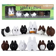 Frank Kozik Labbit with Littons Vinyl Figure 6-Pack