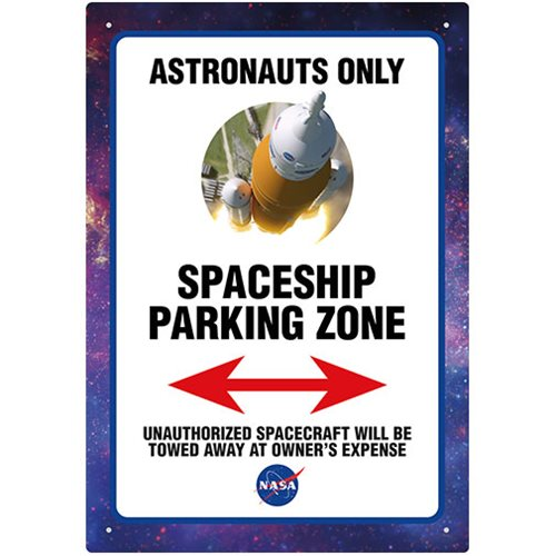 NASA Astronaut Parking Tin Sign