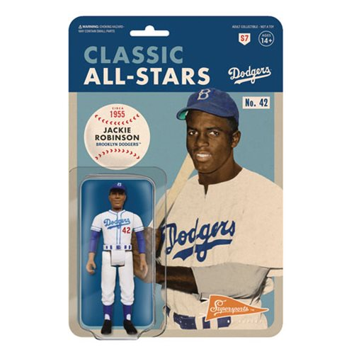 Major League Baseball Classic Jackie Robinson (Brooklyn Dodgers) ReAction Figure