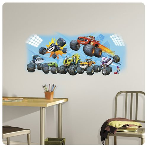 Blaze and the Monster Machines Blaze and Friends Peel and Stick Giant Wall Graphic