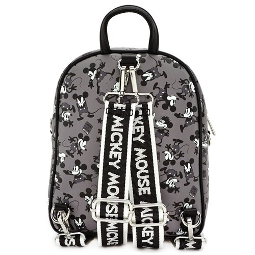 Mickey Mouse Black and White Print Mini-Backpack
