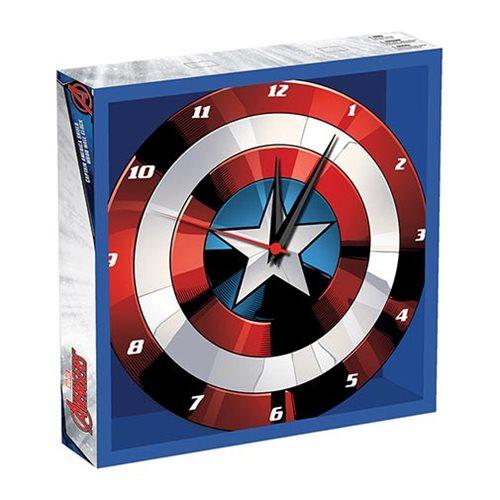 Captain America Shield 13 12 Inch Cordless Wood Wall Clock