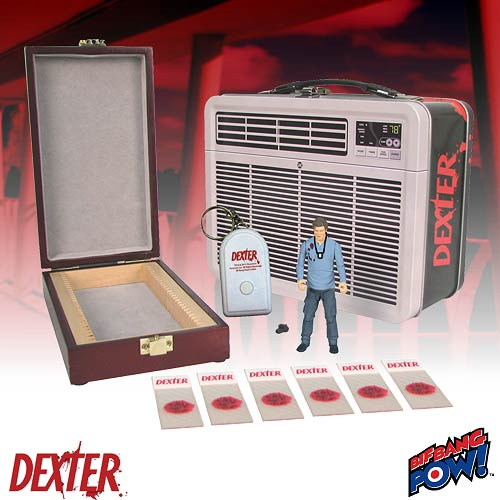 Dexter 3 3/4-Inch Action Figure in Tin Tote with Blood Slide Box - Convention Exclusive