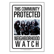 KISS Community Watch Tin Sign