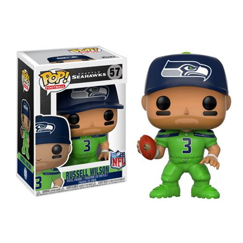 NFL Russell Wilson Seahawks Color Rush Wave 4 Pop! Vinyl Figure #57