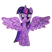 My Little Pony Twilight Sparkle Crystal Studded Decal