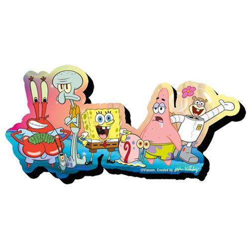 SpongeBob SquarePants Group Funky Chunky Magnet