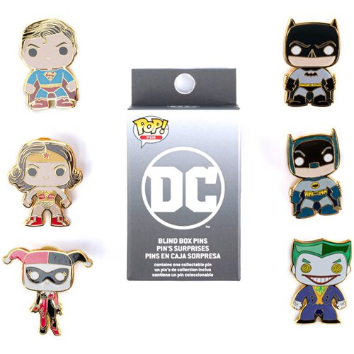 DC Comics Pop! by Loungefly Random Blind Box Enamel Pin