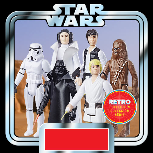Star Wars The Retro Collection Action Figures Wave 1 Case Launch