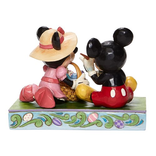 Disney Traditions Mickey Mouse and Minnie Mouse Easter Easter Artistry by Jim Shore Statue