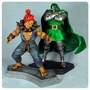 Marvel vs. Capcom 3 Dr. Doom vs. Akuma 1:4 Scale Statues