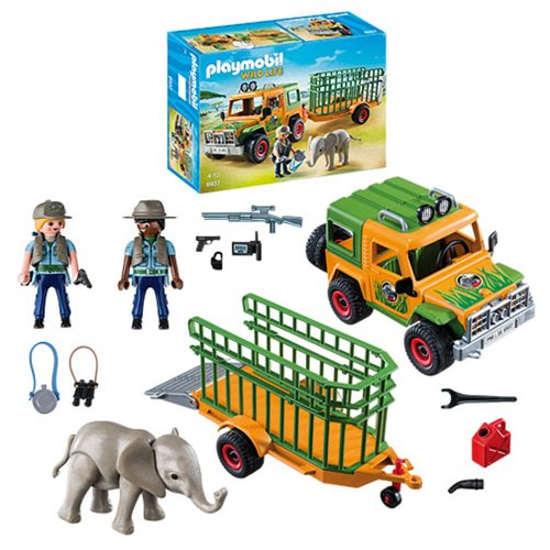 Playmobil 6937 Ranger's Truck with Elephant