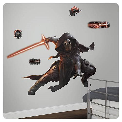 Star Wars: Episode VII - The Force Awakens Kylo Ren Glow-in-the-Dark Giant Wall Decal