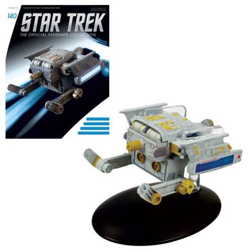 Star Trek Starships Starfleet Tug Die-Cast Metal Vehicle with Collector Magazine #140