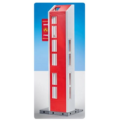 Playmobil 9802 Hose Tower for Fire Station with Alarm
