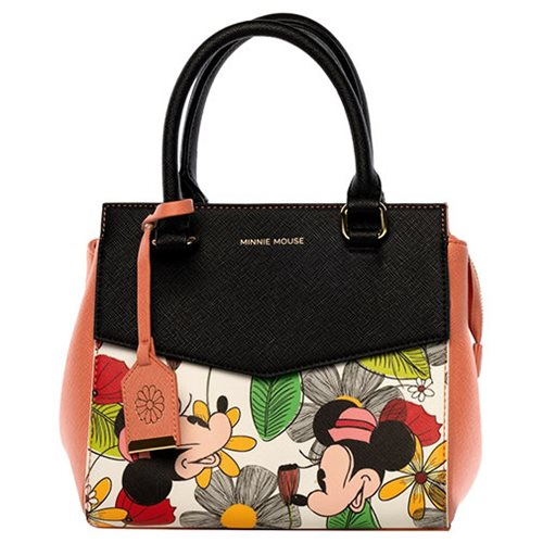 Minnie Mouse Flower Print Hand Bag