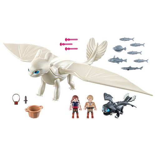 Playmobil 70038 Dragons Light Fury with Baby Dragon and Children