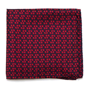 Star Wars Rebel Alliance Pattern Navy and Red Italian Silk Pocket Square