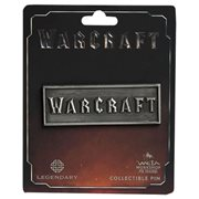 Warcraft Distressed Silver Warcraft Logo Collectible Pin