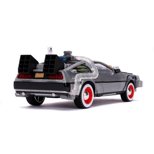 Back to the Future 3 Time Machine 1:24 Scale Die-Cast Metal Vehicle with Lights and Sounds