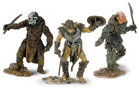 LOTR Armies of Middle Earth 1:24 Scale Mordor Orcs 3-Pk, NM