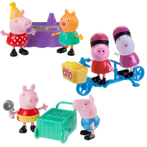 Peppa Pig 3-Inch Figure 2-Pack Assortment Set