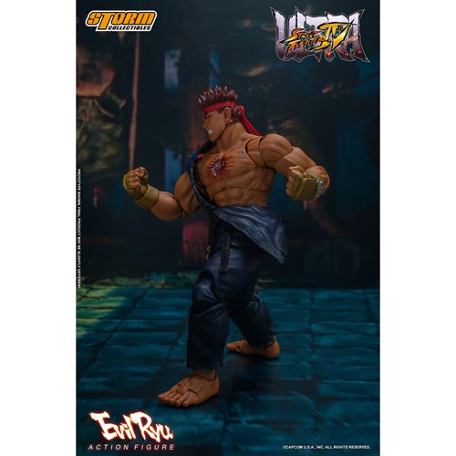 Ultimate Street Fighter IV Evil Ryu 1:12 Scale Action Figure