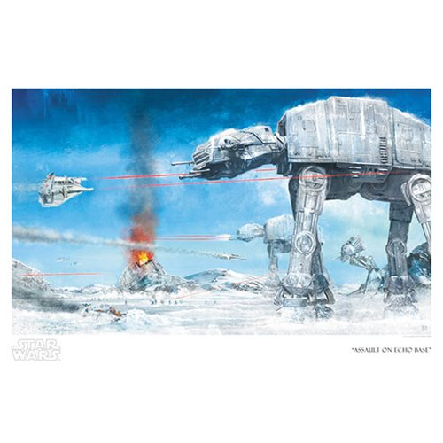 Star Wars Assault on Echo Base by Akirant Paper Giclee Art Print