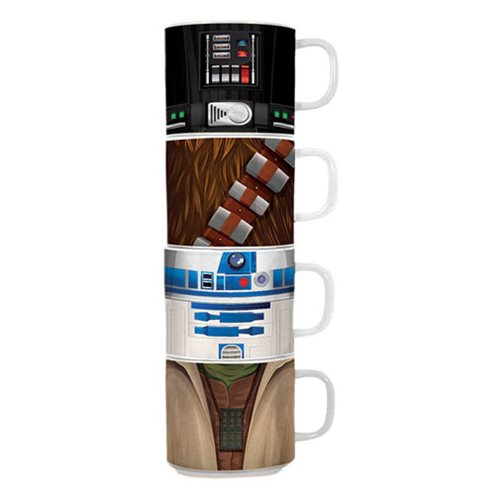 Star Wars Stacking Ceramic Mug 4-Pack