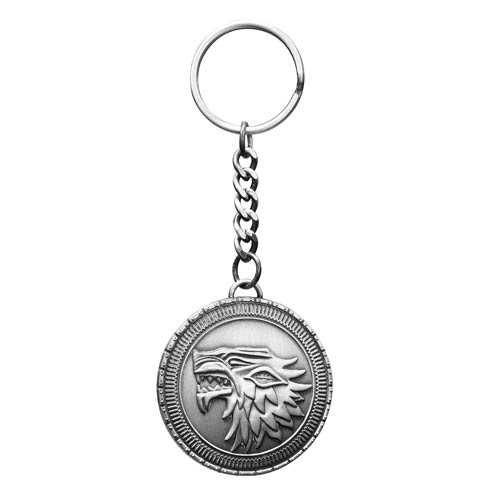 Game of Thrones Stark Direwolf Shield Replica Key Chain