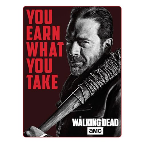 The Walking Dead Negan Polar Fleece Sherpa Blanket