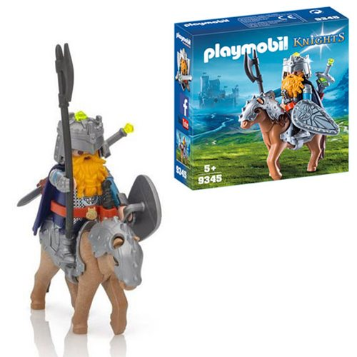 Playmobil 9345 Knights Dwarf Fighter with Pony