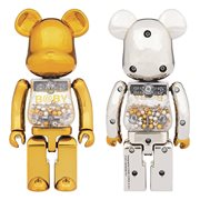 Super Alloyed My First Bearbrick Gold and Silver 2-Pack