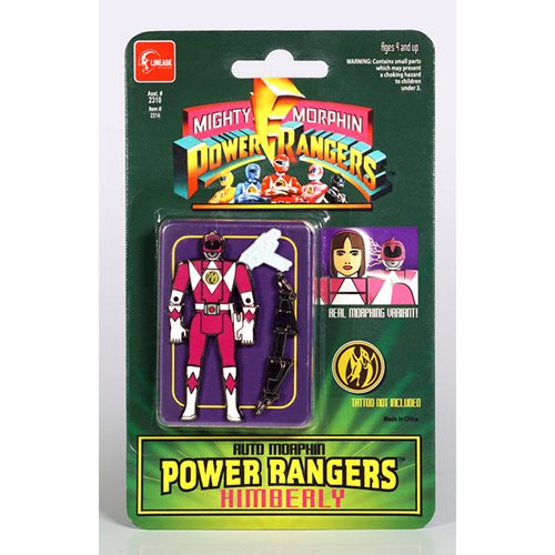 Mighty Morphin Power Rangers Auto Morphin Pink Ranger Kimberly Pin