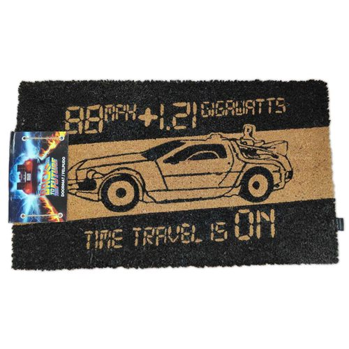 Back to the Future Time Machine Coir with Rubber Backing Doormat