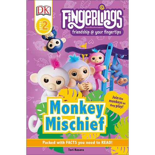 Fingerlings: Monkey Mischief DK Readers Level 2 Paperback Book