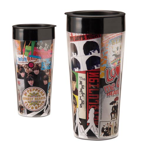 Beatles Albums 16 oz. Plastic Travel Mug