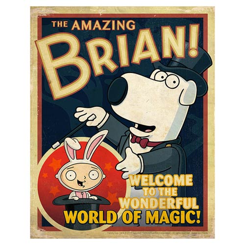 Family Guy The Amazing Brian Lithograph Print