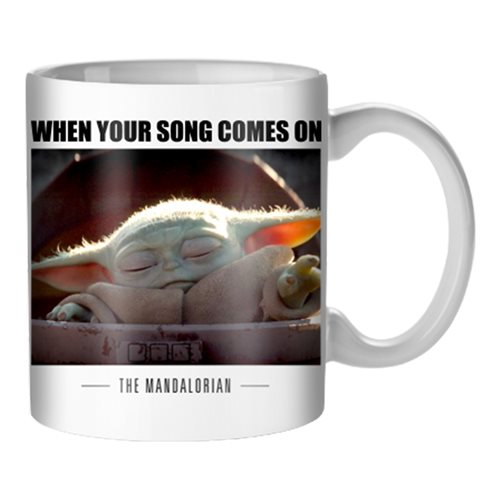 Star Wars: The Mandalorian Song Comes On The Child 20 oz. Mug